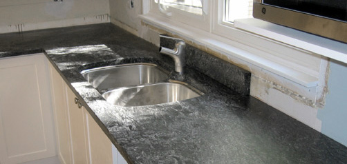 soapstone kitchen countertops installation
