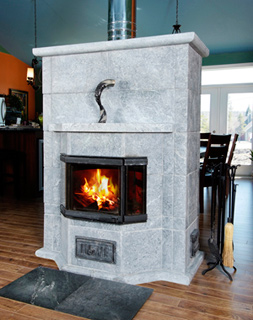 Wood masonry heater DE-1300